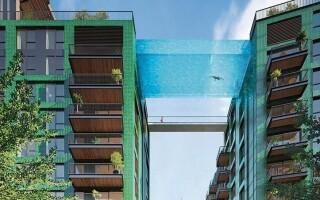 Для тех, кто не боится высоты: в Лондоне открывается парящий в воздухе бассейн с прозрачным дном